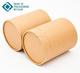 Cylinder Brown Kraft Paper Box Scarf Packaging Box Wholesale