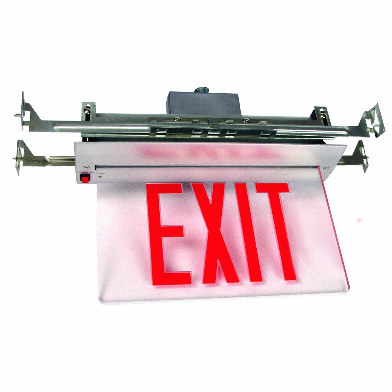 Sunlite 04330-SU EXIT/EDGE/RC/1F/RM/WH/EM/NYC Recessed Exit Light