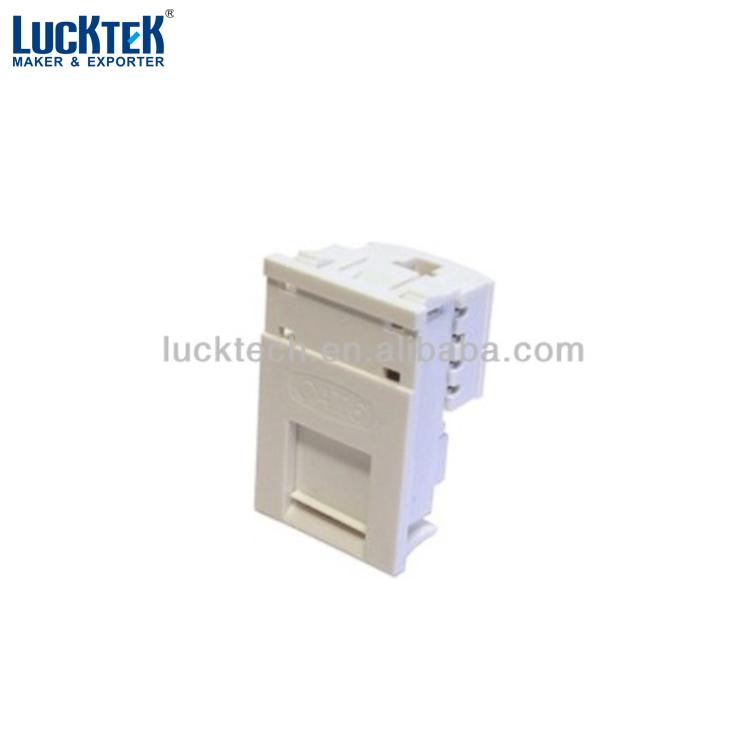 Lucktech white LJ6C CAT 5E module, View Matrix black LJ6C CAT 5e module,  LUCKTEK Product Details from Ningbo Lucktech Electronics Co , Ltd  on