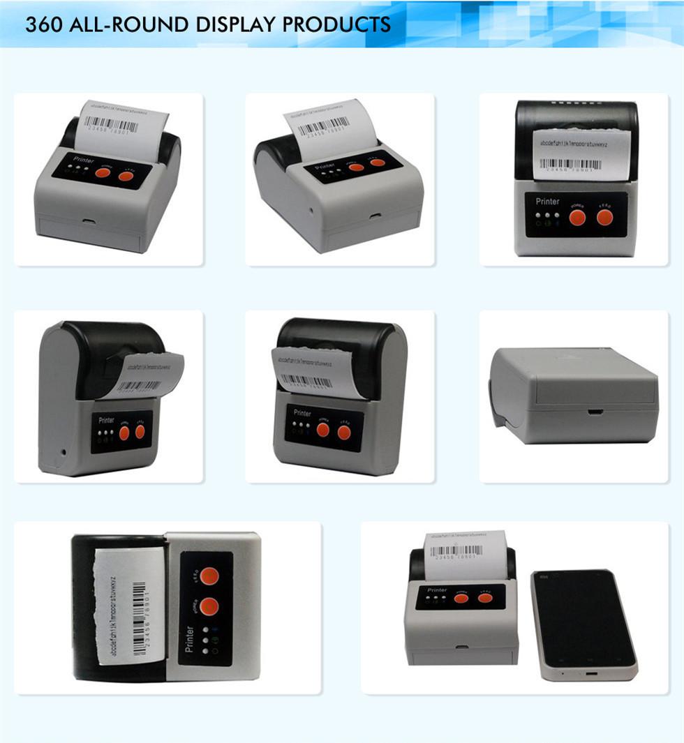 Mini handheld thermal printer small portable printer barcode sticker printer