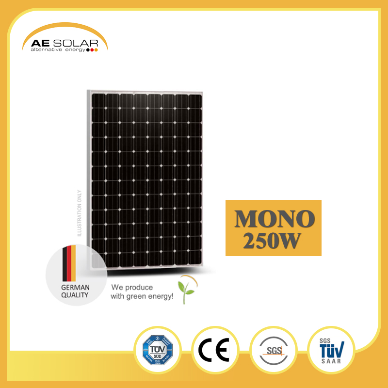 A Grade AE M5-96 Series 250w-275w Mono Solar Panel Home System From Chinese-German Joint Venture Factory