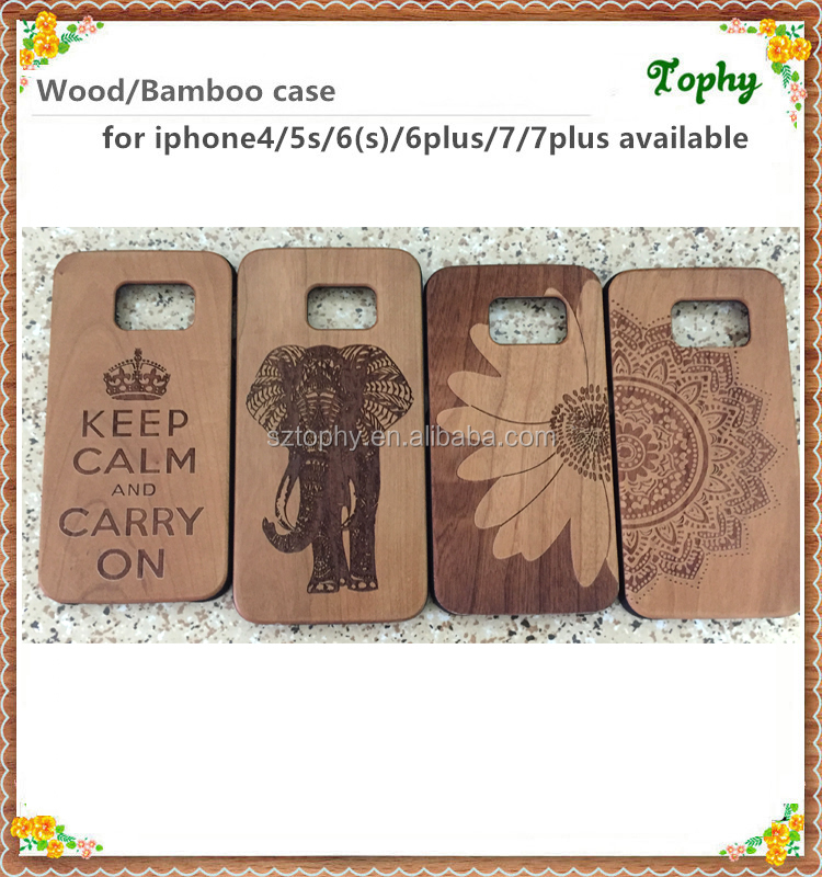 Factory price phone accessories for iphone 7 timber wood case wholesale