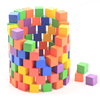Math learning tools kids playing wooden block colorful cube