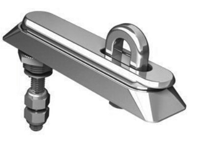 Zinc Die-casting body stainless steel padlock with Bright Chrome Plating finish Latch