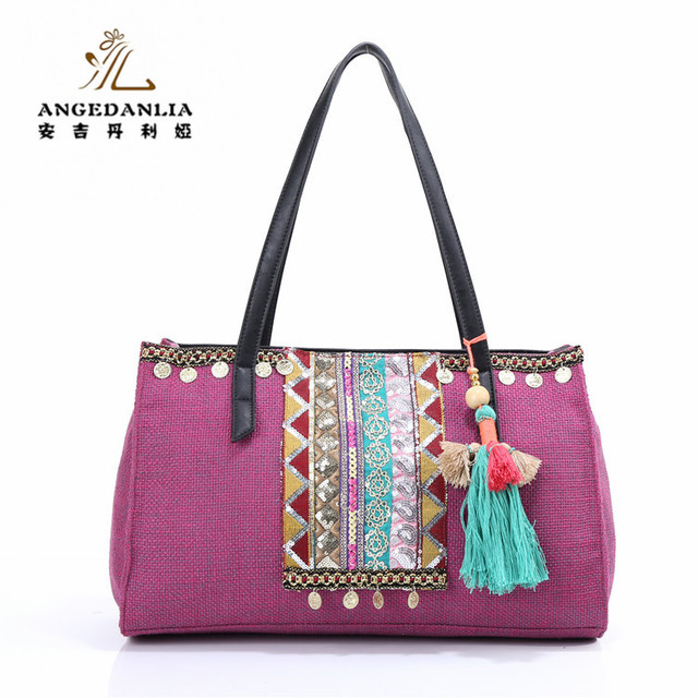 da90d94a95b7 Wholesale Female Hand Made Ethnic Embroidery Handbag Vintage Style Bag