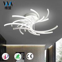 Dimmable 63W Modern Aluminum LED Pendant Ceiling Lamp Light Fixture For Bedroom