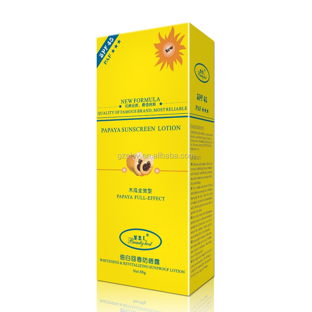 Whitening & Revitalizing Sunproof Lotion/SPF Sun Lotion/Anti-UV Sunscreen Cream SPF45
