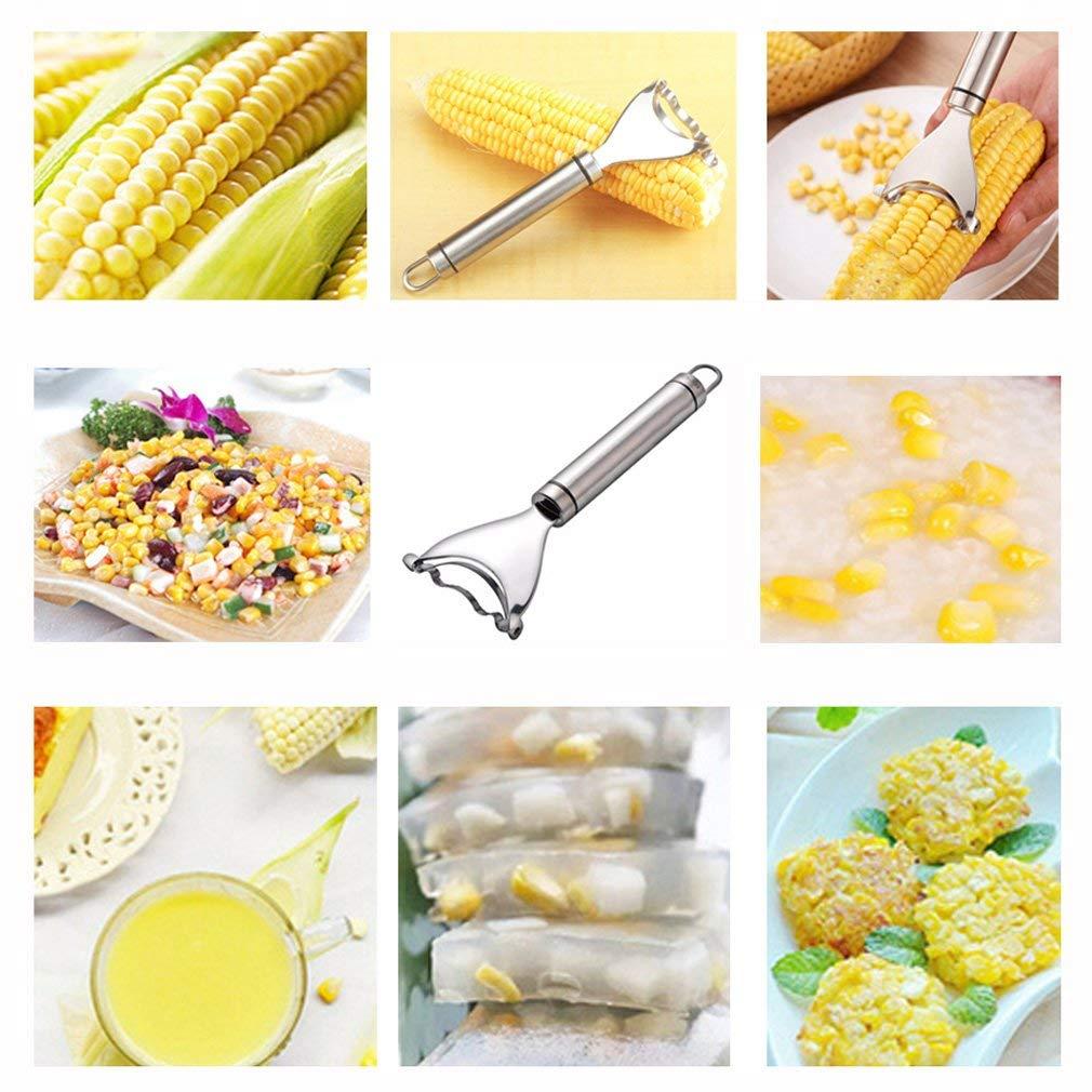 Cob Corn Zipper Stripper Slicer Peeler Stainless Corn Kerneler Remover Quick Cob Thresher Cutter Stripping Tool