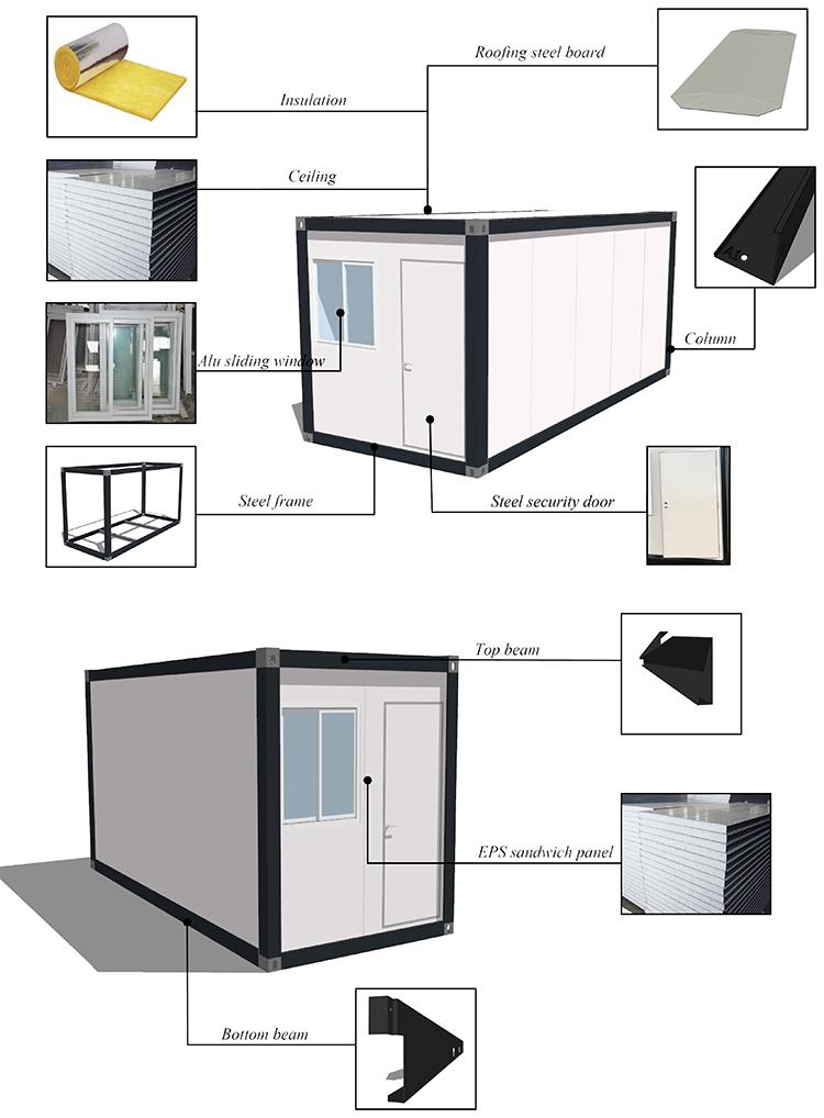Migliore qualità promozionale prefabbricata espandibile casa del contenitore con il prezzo poco costoso