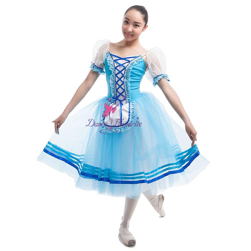 5812d032322 Top Vente Adulte Filles Giselle Bleu Romantique Ballet Danse Tutu  Personnaliser Robe de Ballerine pour la