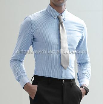 3d859e7c9fe Мужская Повседневная деловая рубашка в полоску для мужчин офисная одежда