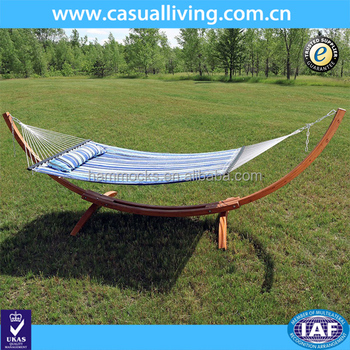 Beach Blue Quilted 2 Person Double Hammock With Curved Wooden Standspreader Bars And Pillow156 Inch Long X 55 Inch Wide Buy Beach Hammockdouble