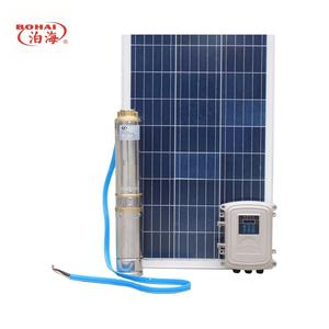 Solar energy water pump for deep well