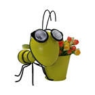 decor metal led animal hanging stainless steel flower pot glass