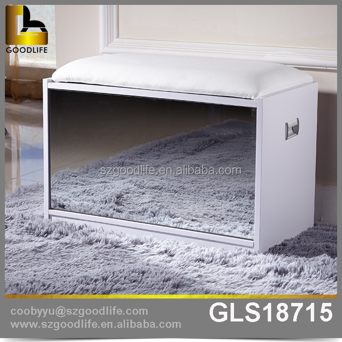 Hall furniture antique shoe storage cabinet with mirror with favorable price