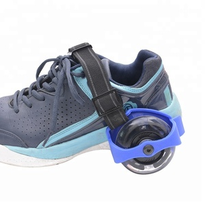 Detachable PVC roller skates led outdoor sports 2 heels shoes