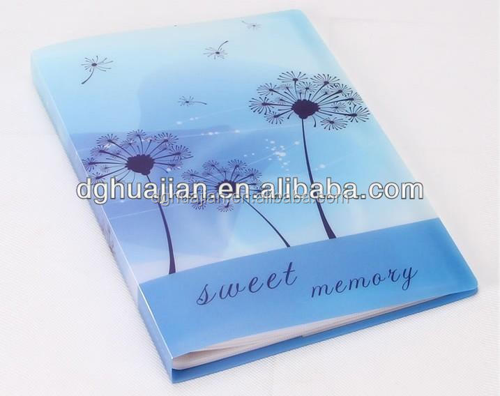 Custom design and printing Waterproof wedding photo album PP eco friendly material from Dongguan Manufacture