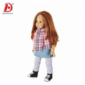 HUADA 2019 High Quality 12 Sounds 18 Inch Vinyl Fashion American Girl Doll Kits for Little Girl