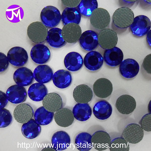 Glitter Lead Free SS16 Sapphire Rhinestone for Bridal Decoration