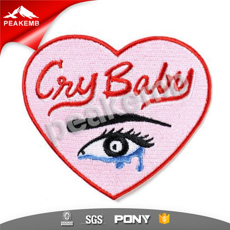 customized Cry Baby embroidery embroidered patch