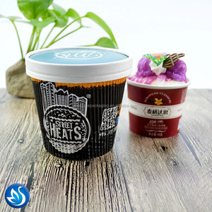 High Quality Ice Cream Paper Cup With Spoon