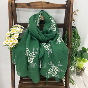 wholesale custom design acrylic knitted shawls digital printing custom scarf