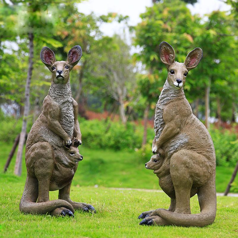 jardin ext rieur d coratif r sine animaux grand kangourou sculpture artisanat en r sine id de. Black Bedroom Furniture Sets. Home Design Ideas