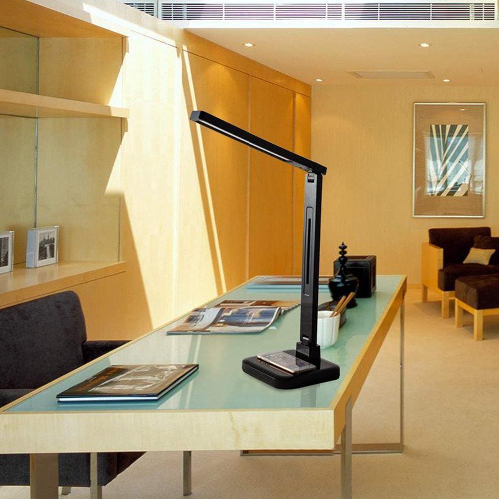 plegable moderna lmpara de escritorio led con qi wireless usp niveles dimmer cuatro