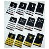 Merchant Navy Epaulettes | Yachting Epaulets | Epaulettes 1, 2, 3, 4 bar gold / silver metallic stripes | cruise epaulette