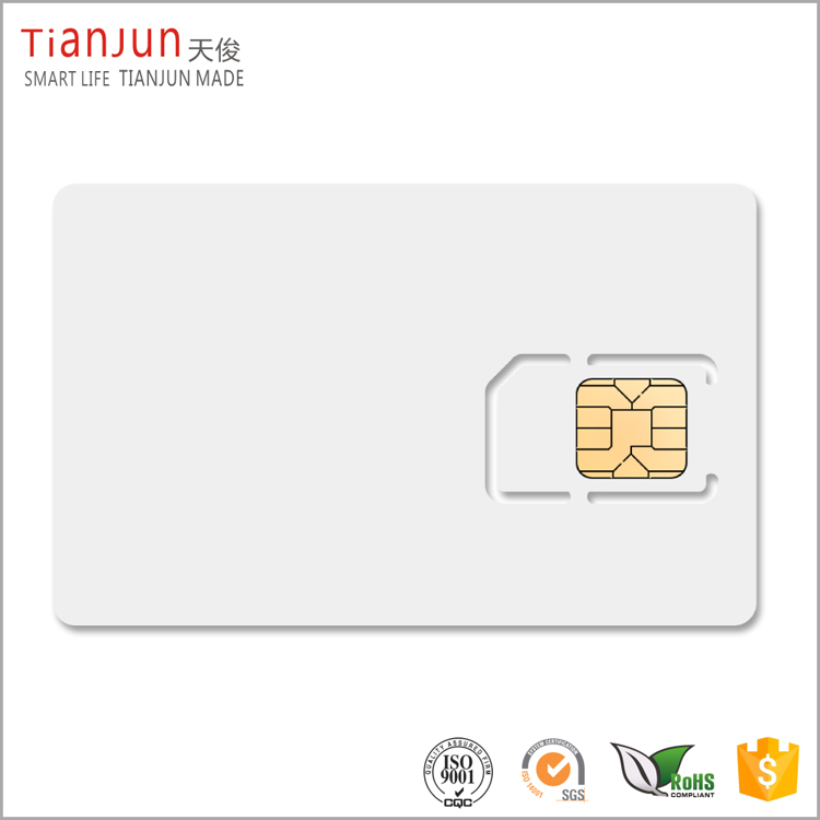 Inkjet PVC 5528 Contact Chip Card Blank SIM Card for Canon/Epson