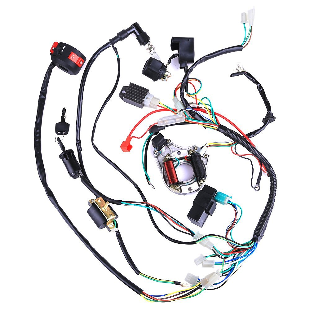 Buy Jcmoto Complete Electrics Magneto 50cc 110cc 125cc Kick Start Crf50 Wiring Diagram Cisno Stator Coil Cdi Harness For 4 Stroke Atv Klx 70cc