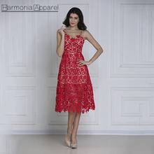 e963072f6 W286 señora elegante al por mayor Beaty rojo del cordón de las mujeres del  ganchillo
