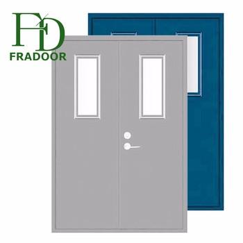 Fireproof Function Interior Double Swing Steel Doors For Apartment School Mall Commercial Hung Door