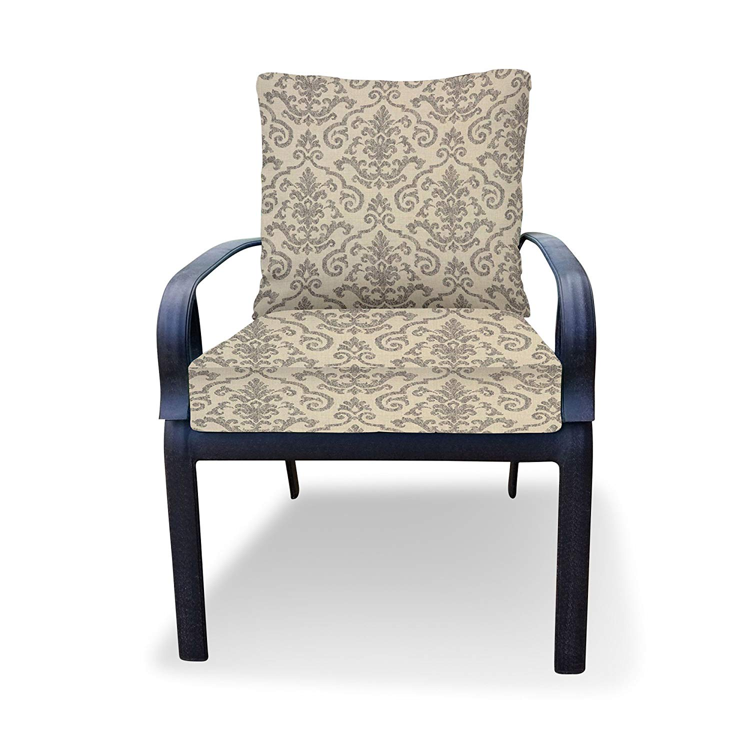 Get Quotations Thomas Collection Outdoor Cushion Set Grey Ivory Cushions For Chair Chaise Or Seat
