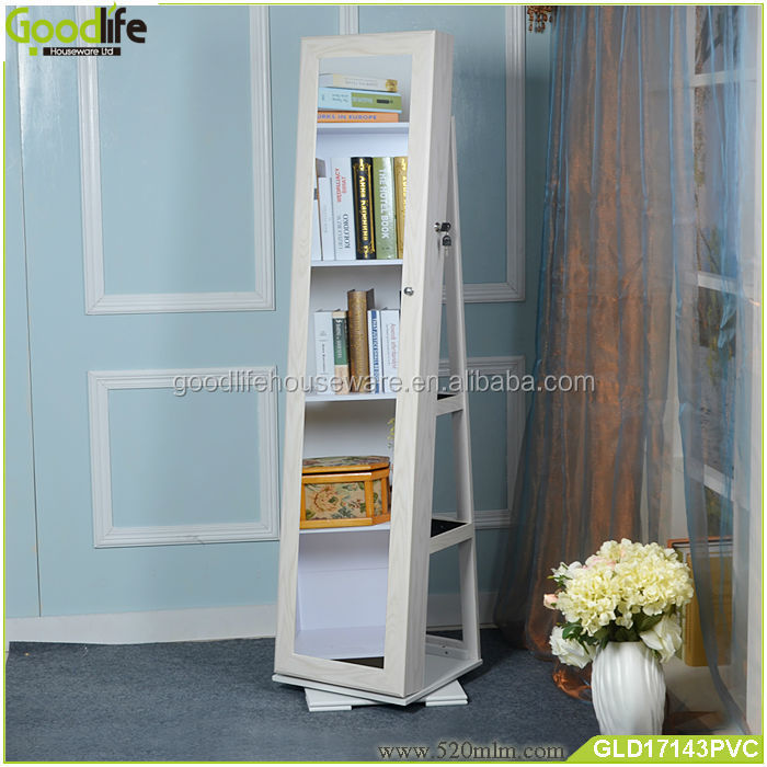 Rotating Floor Stand Floor Mirror Jewelry Armoire Floor Mirror Stand ...