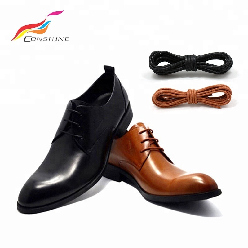 Reasonable 2.5mm Black Metal Tipped Round Waxed Cotton Shoelaces Brogue Oxford Dress Shoes Shoe Laces Clothing, Shoes & Accessories