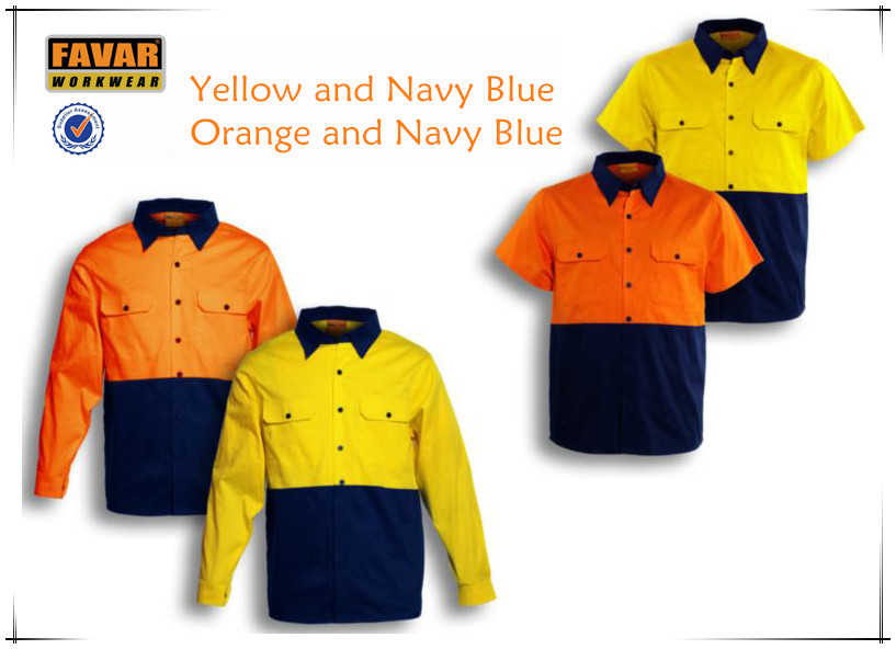 constructions safety work shirts two tone work shirt