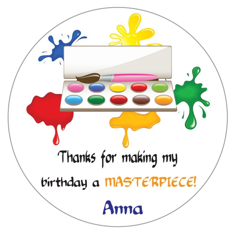 Personalized Circle Baby Shower Gift Stickers, 50-Pack - CUSTOM MADE ANY NAME / TEXT Colorful SRTZ-32