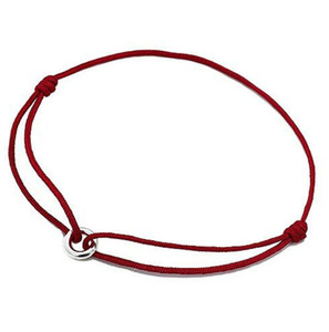 Sells Good Online jewellery 316l stainless steel Simple circle charm red rope designs leather bracelets unisex bangle PZB397