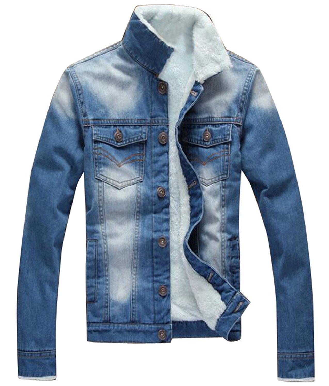 OTW Mens Winter Sherpa Lined Plain Thicken Hoodie Sweatshirt Jacket Coat Outerwear