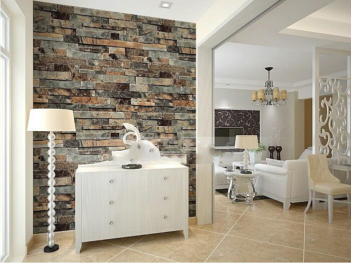Brick 3d Pvc Wallpaper Home Decor