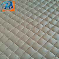 Soft handfeel quilted pu leather for bag /clothes/decorations