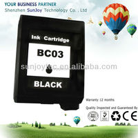 Wholesale Printer Ink Cartridge Compatible BC-03 for CANON BJC-210SP 250SP 255SP 1000SP