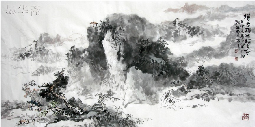 Oriental Asian Original Traditional Chinese painting ...