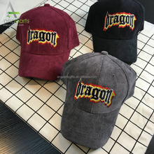 Volume produce factory supply Unisex corduroy wholesale baseball caps and hats
