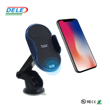 QI infrared sensor Automatic fast car wireless mobile phone charger for iphone for samsung
