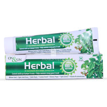 En y en la marca herbal toothpaste