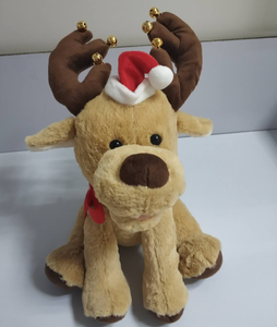 Wholesale Factory soft plush stuffed custom electric Christmas musical reindeer toy for kids play Gift