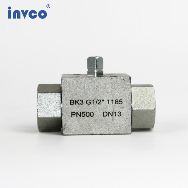 INVCO Pneumatic actuator 3 way High Pressure ball valve ,Stainless Steel Pneumatic Ball Valve for high media