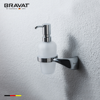 Bathroom Accessories Wall Mounted Soap Dispenser With Holder